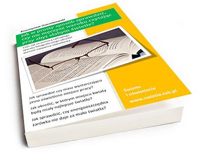 Okładka ebooka o pomiarze natężenia oświetlenia