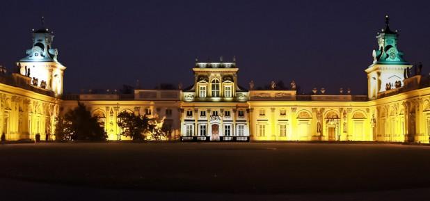 Iluminacja zabytków - Pałac Królewski wWilanowie