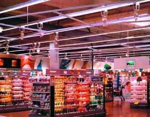 Oświetlenie supermarketów - akcentujace