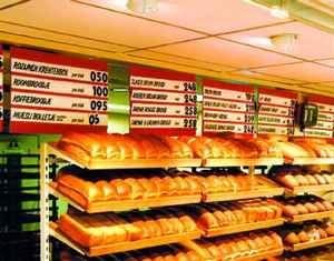 Oświetlenie supermarketów - pieczywo