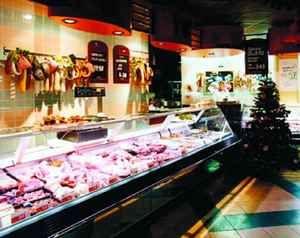 Oświetlenie supermarketów - wędliny