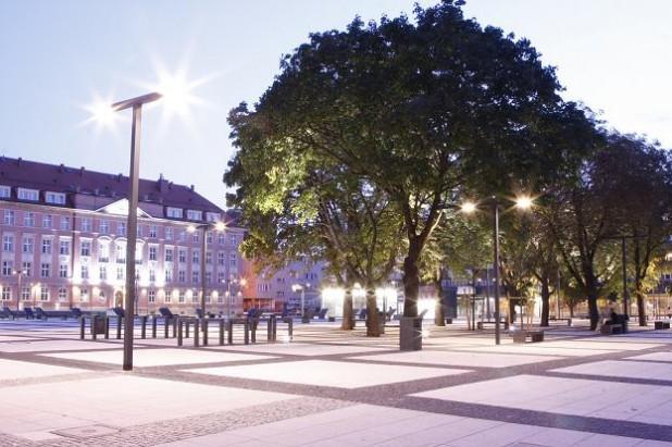Oświetlenie zewnętrzne - Urząd Miejski - Wrocław - Luxan