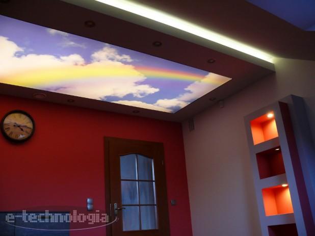 Oświetlenie pokoju dziecka - sufit napinany ipodświetlony