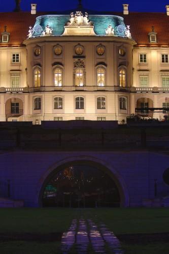 Iluminacja LED - Zamek Królewski wWarszawie