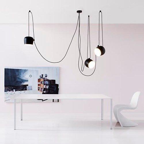 Flos Lampa Wiszaca Aim komplet 3 lamp czarne