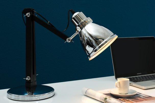 Lampa stołowa Celio 60 cm srebrna