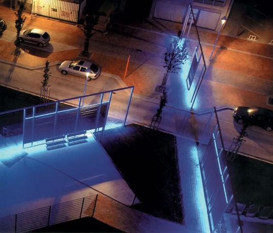 oświetlenie LED parku