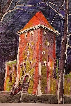 zamek Chudów, rysunek 1