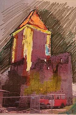 zamek Chudów, rysunek 2