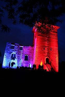 iluminacja zamku Chudów
