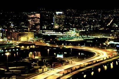 Oslo oświetlone wnocy