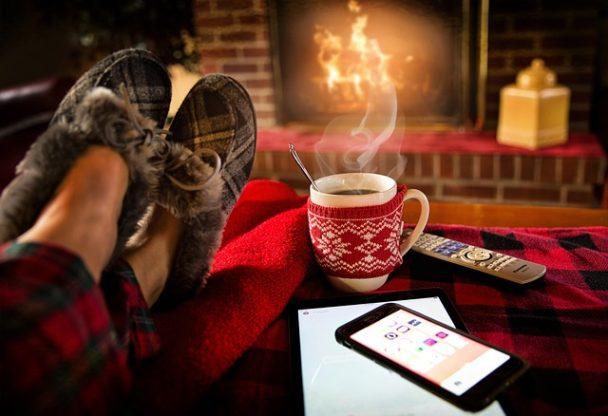 Relaks przy kawie ikominku