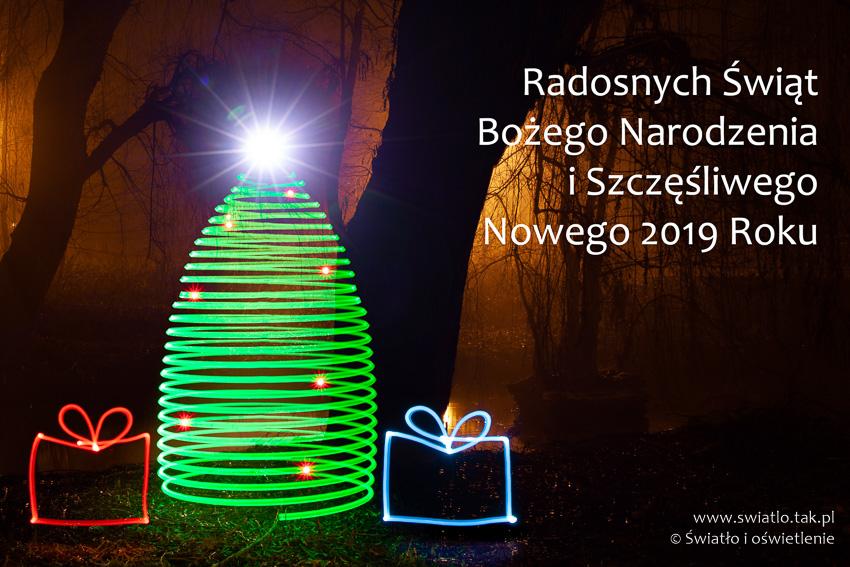 Radosnych Świąt Bożego Narodzenia i Szczęśliwego Nowego 2019 Roku