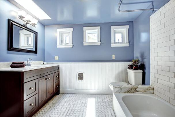Łazienka wstylu prowansalskim - pomysł naniepowtarzalny klimat - viverto